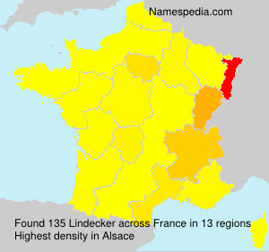 Surname Lindecker in France