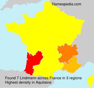 Surname Lindmann in France