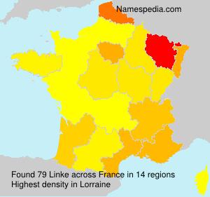 Surname Linke in France