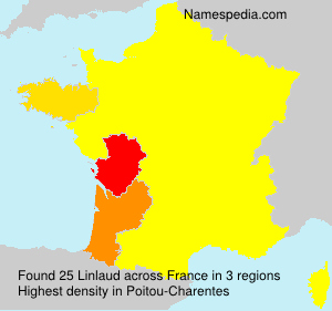 Surname Linlaud in France