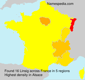Surname Linsig in France