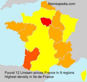 Surname Linssen in France
