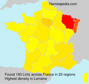 Surname Lintz in France