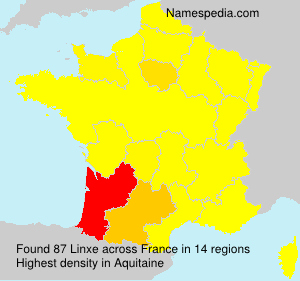 Surname Linxe in France
