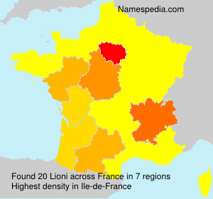 Surname Lioni in France