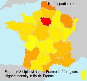 Surname Lipinski in France