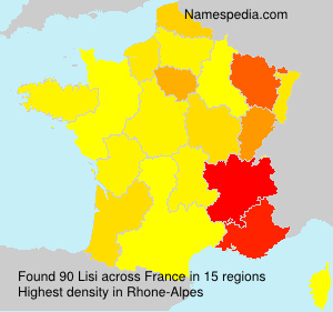 Surname Lisi in France