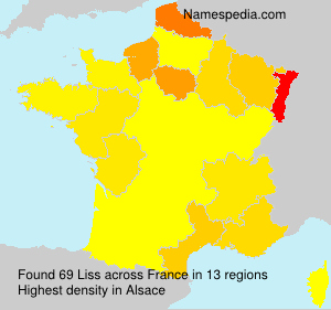 Surname Liss in France