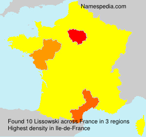 Surname Lissowski in France