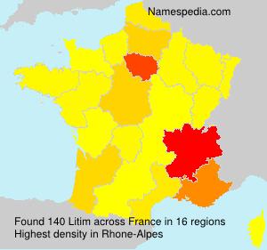 Surname Litim in France