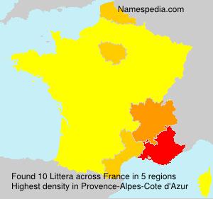 Familiennamen Littera - France