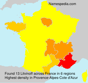 Surname Litvinoff in France