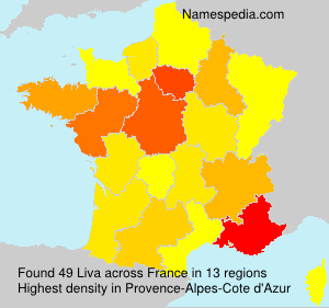 Surname Liva in France