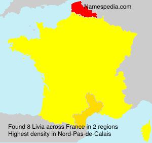 Surname Livia in France