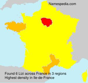 Surname Lizi in France