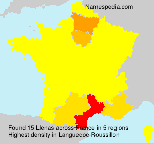 Surname Llenas in France