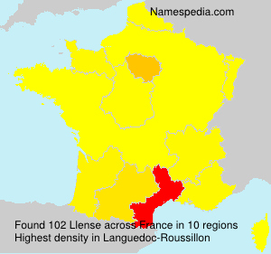 Surname Llense in France