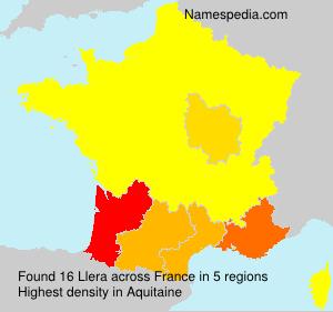 Familiennamen Llera - France