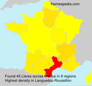 Surname Lleres in France