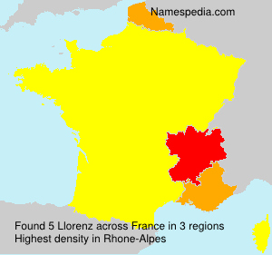 Surname Llorenz in France