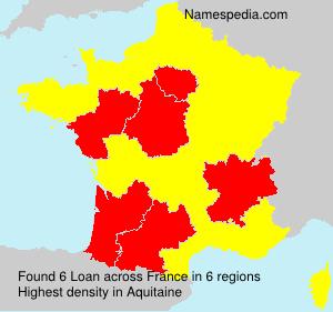 Surname Loan in France