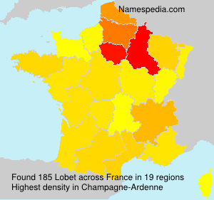 Surname Lobet in France
