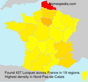 Surname Locquet in France