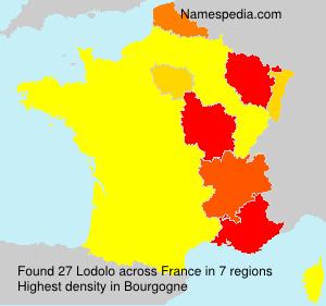 Familiennamen Lodolo - France