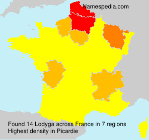 Surname Lodyga in France