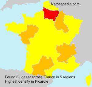Surname Loezer in France