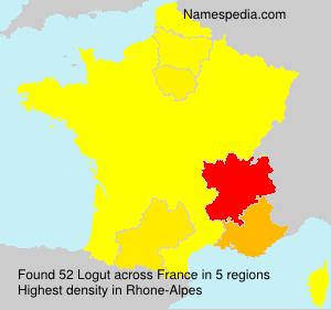 Familiennamen Logut - France