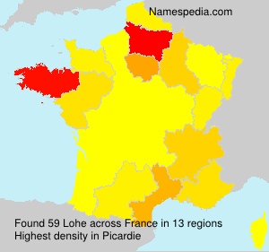 Surname Lohe in France