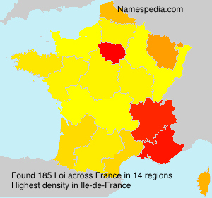 Surname Loi in France