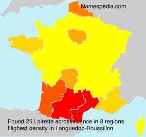 Surname Loirette in France