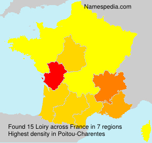 Surname Loiry in France