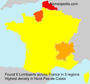 Surname Lombaerts in France