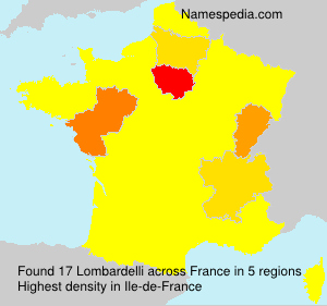 Surname Lombardelli in France