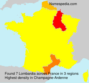 Surname Lombardia in France