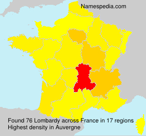 Surname Lombardy in France