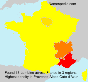 Surname Lombino in France