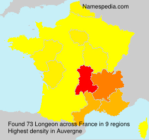 Surname Longeon in France