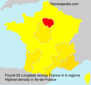Surname Longlade in France