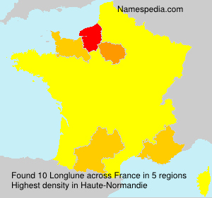 Surname Longlune in France