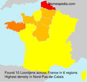Surname Loontjens in France