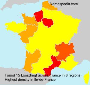Surname Loosdregt in France