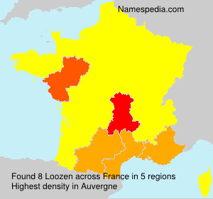 Surname Loozen in France