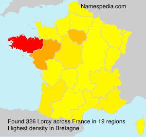 Familiennamen Lorcy - France