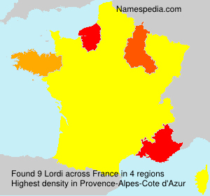 Surname Lordi in France