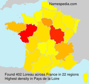Surname Loreau in France