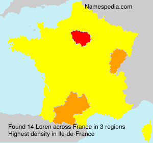 Surname Loren in France